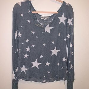 Wildfox star long sleeve size S